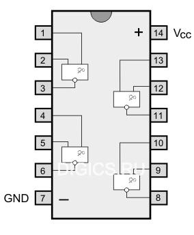 Логическая микросхема К155ЛА3